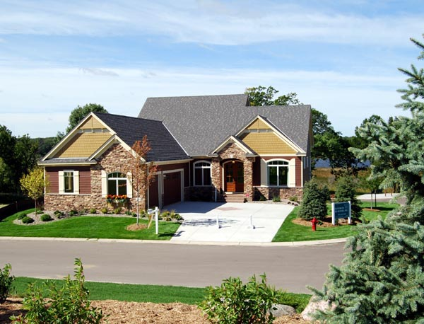 Cottage, Country, European, Traditional House Plan 57562 with 3 Beds, 3 Baths, 3 Car Garage Elevation