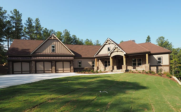 Cottage, Country, Craftsman, Traditional House Plan 58299 with 4 Beds, 4 Baths, 3 Car Garage Picture 2