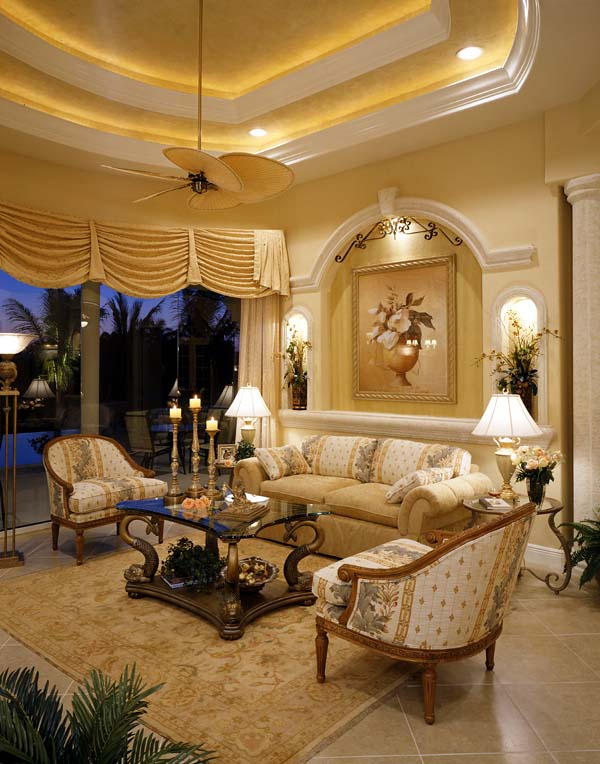 Florida House Plan 58907 with 3 Beds, 4 Baths, 3 Car Garage Picture 3