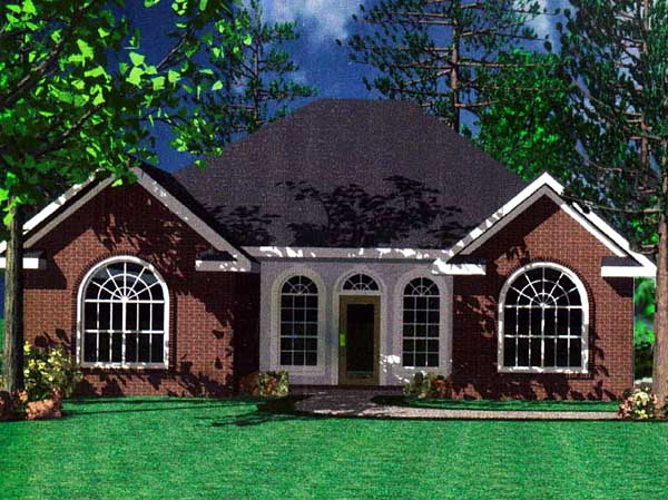 Bungalow, Cottage, European, Traditional House Plan 59001 with 3 Beds, 2 Baths Elevation