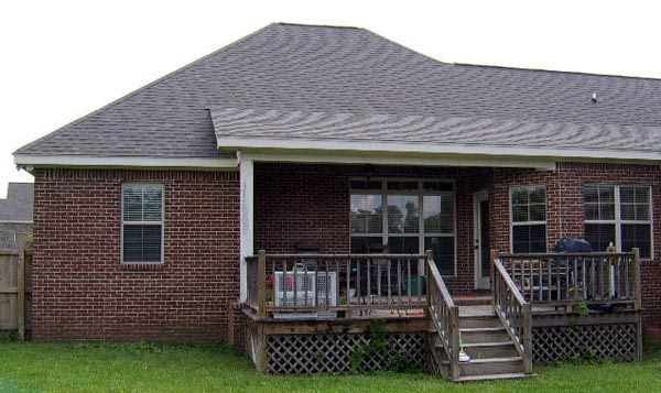 European House Plan 59007 with 3 Beds, 2 Baths, 2 Car Garage Picture 3