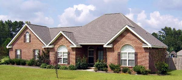 European House Plan 59007 with 3 Beds, 2 Baths, 2 Car Garage Picture 4