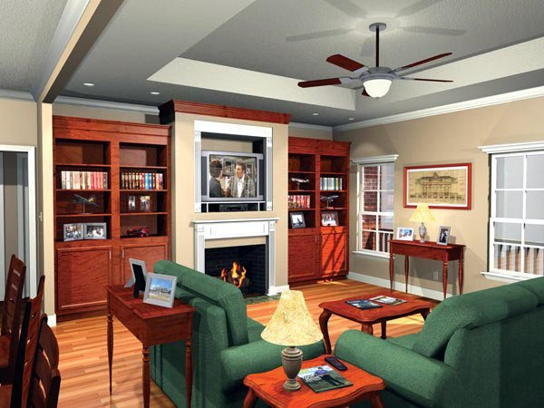European, Ranch, Traditional House Plan 59010 with 3 Beds, 2 Baths, 2 Car Garage Picture 1