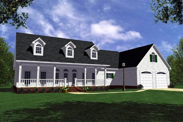 Country, Farmhouse, Ranch House Plan 59013 with 3 Beds, 3 Baths, 2 Car Garage Elevation