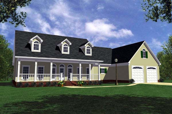 Country, Farmhouse, Ranch House Plan 59014 with 3 Beds, 3 Baths, 2 Car Garage Elevation