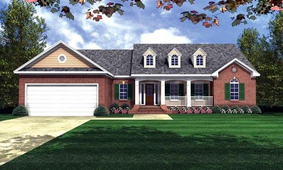 Country, Ranch, Traditional House Plan 59016 with 3 Beds, 2 Baths, 2 Car Garage Elevation