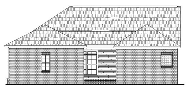 Colonial, Southern, Traditional House Plan 59022 with 3 Beds, 3 Baths, 2 Car Garage Rear Elevation