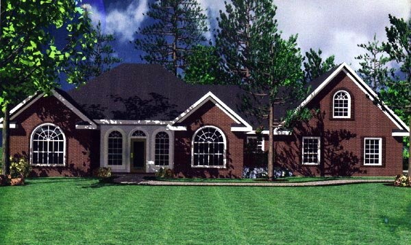 European, French Country, Ranch, Traditional House Plan 59031 with 3 Beds, 4 Baths, 2 Car Garage Picture 2