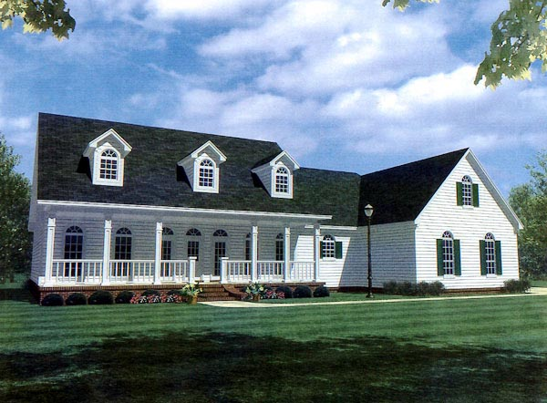 Country, Farmhouse, Ranch, Southern House Plan 59036 with 4 Beds, 3 Baths, 2 Car Garage Elevation