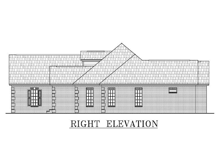 Country, European, Southern, Traditional House Plan 59038 with 4 Beds, 3 Baths, 2 Car Garage Picture 1