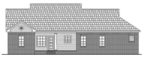 Cape Cod, Country, Ranch, Traditional House Plan 59051 with 3 Beds, 2 Baths, 2 Car Garage Rear Elevation