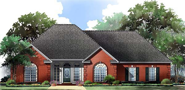 Cottage, Country, European, Traditional House Plan 59055 with 3 Beds, 2 Baths, 2 Car Garage Elevation