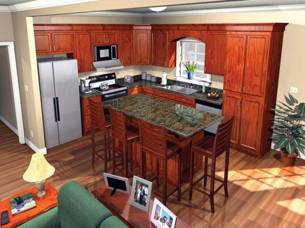 European, Ranch, Traditional House Plan 59062 with 3 Beds, 2 Baths, 2 Car Garage Picture 1