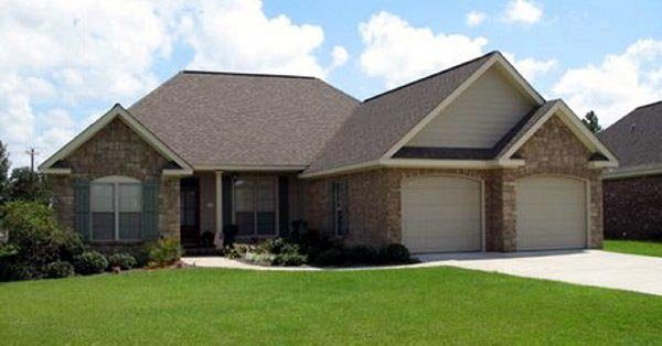 European, Ranch, Traditional House Plan 59062 with 3 Beds, 2 Baths, 2 Car Garage Picture 2