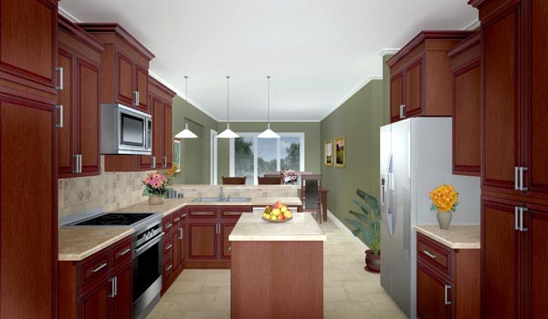 Craftsman, Ranch, Traditional House Plan 59089 with 3 Beds, 3 Baths, 2 Car Garage Picture 2
