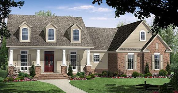 Country, Craftsman, Traditional House Plan 59092 with 4 Beds, 3 Baths, 2 Car Garage Elevation