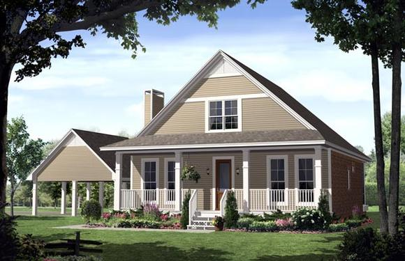 Country, Farmhouse, Traditional House Plan 59124 with 3 Beds, 3 Baths, 2 Car Garage Elevation