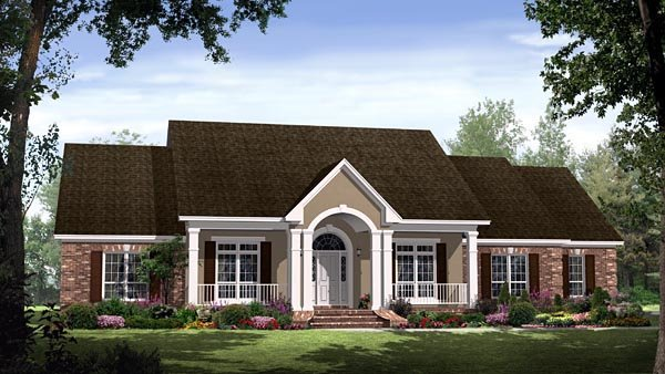 Country, European, Traditional House Plan 59144 with 4 Beds, 4 Baths, 2 Car Garage Elevation