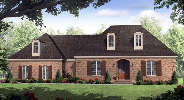 European, Italian, Traditional House Plan 59158 with 3 Beds, 3 Baths, 2 Car Garage Elevation