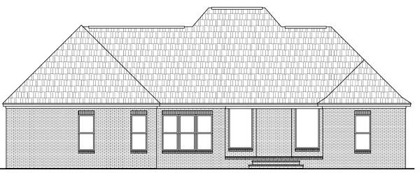 Country, European, Traditional House Plan 59174 with 3 Beds, 3 Baths, 2 Car Garage Rear Elevation