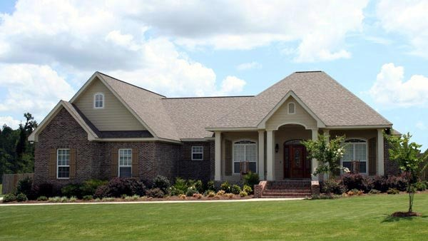 Country, European, Traditional House Plan 59175 with 4 Beds, 3 Baths, 2 Car Garage Elevation