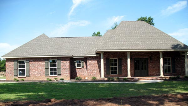 Country, Southern, Traditional House Plan 59180 with 3 Beds, 2 Baths, 2 Car Garage Picture 6
