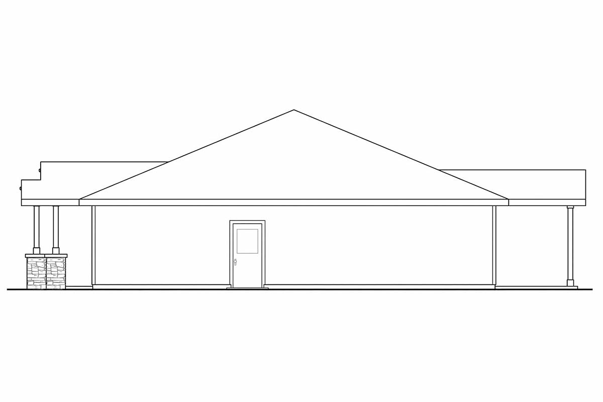 Contemporary, Cottage, Country, Craftsman, Ranch House Plan 59411 with 3 Beds, 2 Baths, 2 Car Garage Picture 1