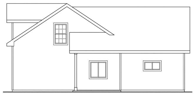 Country, Craftsman, Traditional 3 Car Garage Apartment Plan 59452, RV Storage Rear Elevation