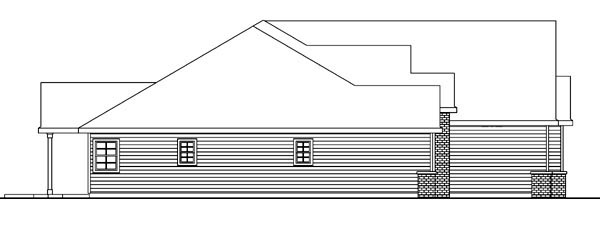 Contemporary, European, Ranch House Plan 59707 with 4 Beds, 4 Baths, 3 Car Garage Picture 1