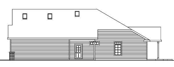 Contemporary, European, Ranch House Plan 59707 with 4 Beds, 4 Baths, 3 Car Garage Picture 2