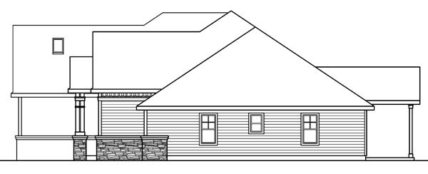 Cottage, Craftsman, European, Ranch House Plan 59721 with 3 Beds, 4 Baths, 3 Car Garage Picture 2