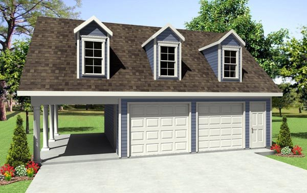Country, Traditional 3 Car Garage Plan 59931 Elevation