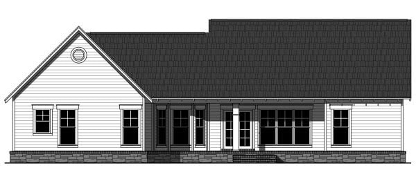 Country, Craftsman, Ranch House Plan 59943 with 3 Beds, 2 Baths, 2 Car Garage Rear Elevation