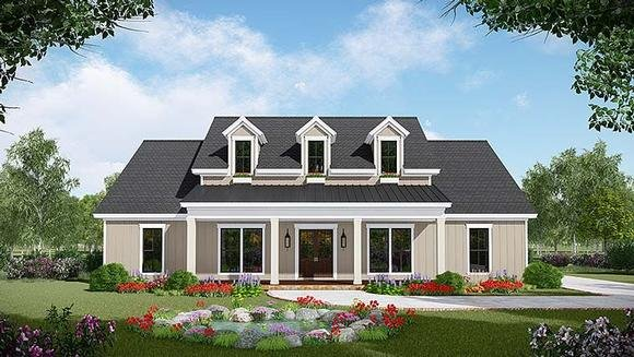 Country, Farmhouse, Ranch, Southern House Plan 59996 with 3 Beds, 3 Baths, 2 Car Garage Elevation