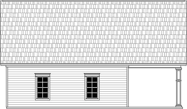 3 Car Garage Plan 59997 Rear Elevation