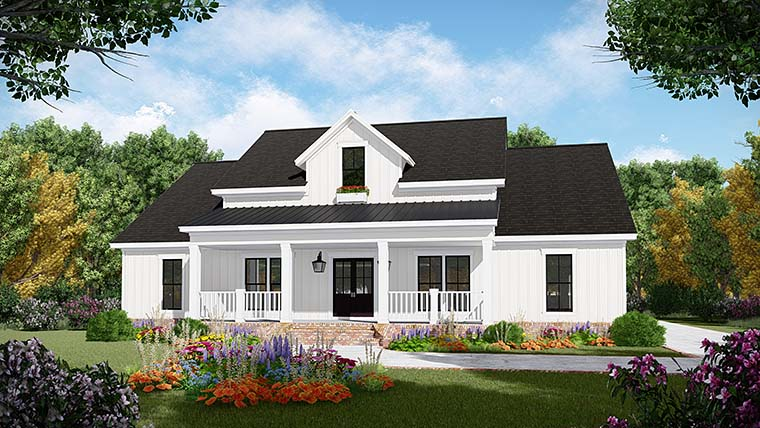 Country, Farmhouse, Ranch, Southern House Plan 59998 with 3 Beds, 3 Baths, 2 Car Garage Picture 1