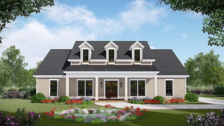 Country, Farmhouse, Southwest House Plan 59999 with 3 Beds, 3 Baths, 2 Car Garage Elevation
