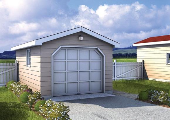 Traditional 1 Car Garage Plan 6001 Elevation