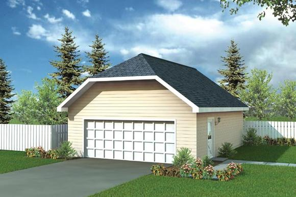 Farmhouse, Traditional 2 Car Garage Plan 6003 Elevation