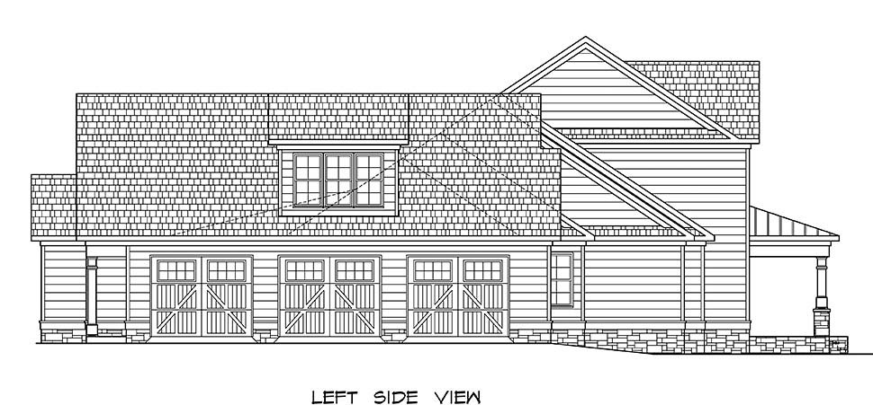Craftsman, Traditional House Plan 60069 with 5 Beds, 5 Baths, 3 Car Garage Picture 2