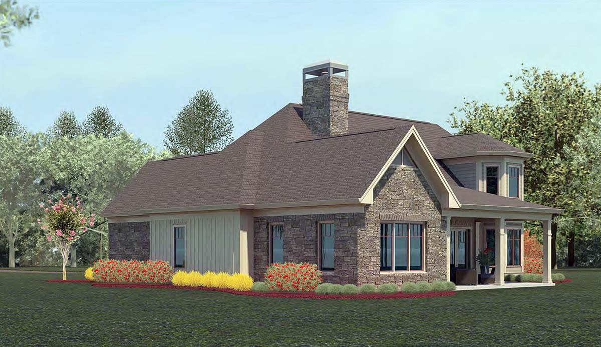 Craftsman, Ranch House Plan 60085 with 4 Beds, 4 Baths, 3 Car Garage Picture 2