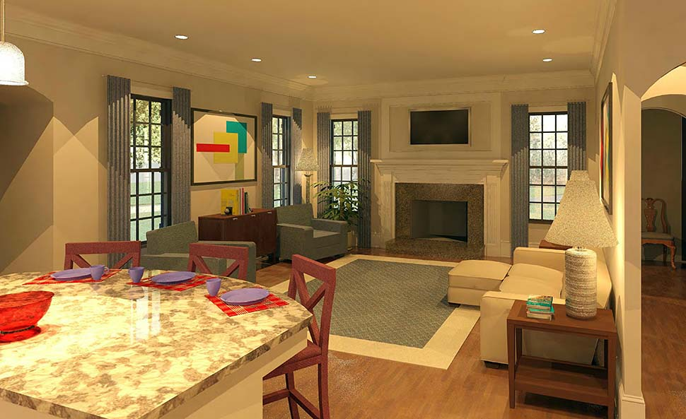 Cape Cod, French Country, Traditional House Plan 60090 with 4 Beds, 5 Baths, 3 Car Garage Picture 4