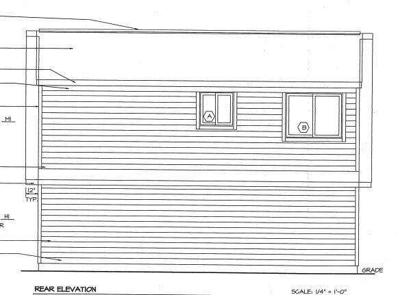 Cape Cod, Traditional 2 Car Garage Apartment Plan 6016 with 1 Beds, 1 Baths Rear Elevation