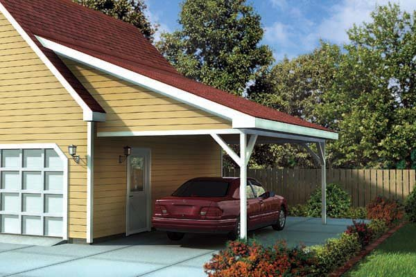 Ranch, Traditional 1 Car Garage Plan 6023 Picture 1