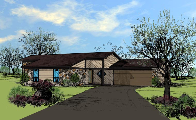 House Plan 60635 with 3 Beds, 2 Baths Elevation