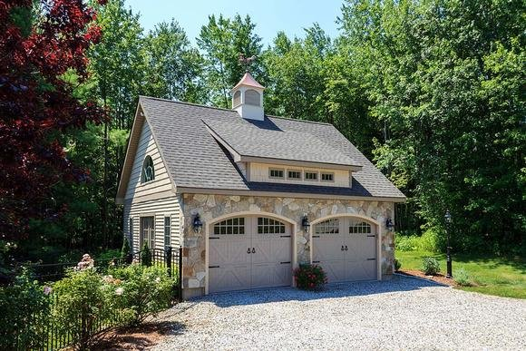 Cottage, Country, European, French Country 2 Car Garage Plan 60682 Elevation