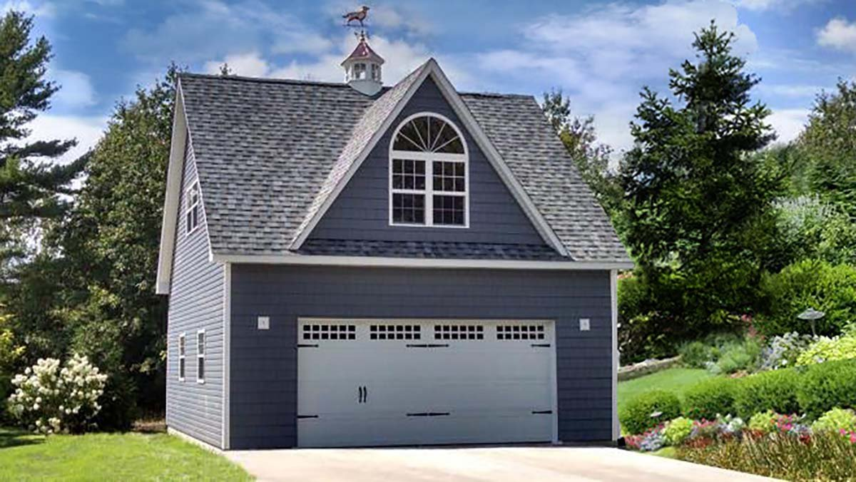 Cottage, Country, Traditional 2 Car Garage Apartment Plan 60687 Elevation
