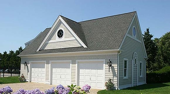 Country, Southern 3 Car Garage Plan 60691 Elevation