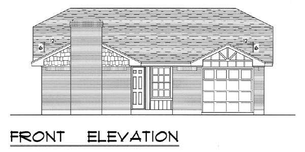 Country, Ranch, Traditional House Plan 60801 with 3 Beds, 2 Baths, 1 Car Garage Picture 3
