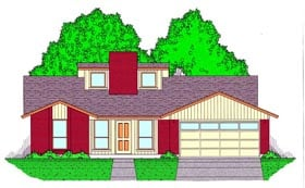 Plan Number 60825 - 1678 Square Feet